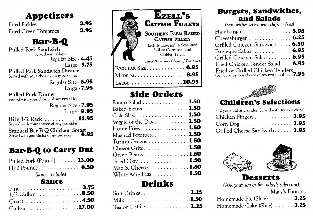 Mary's Kitchen Menu-2