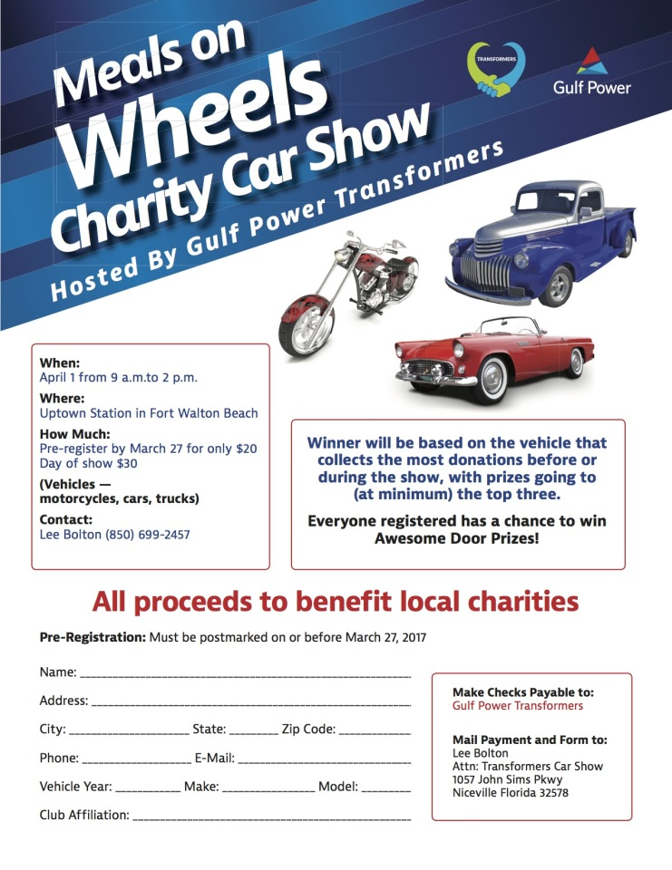 Meals On Wheels Car Show 2017 8.5x11 flyer