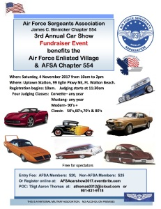 Air Force Sergeants Association 3rd Annual Car Show