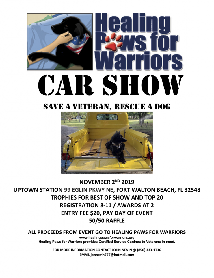 Healing Paws for Warriors Car Show